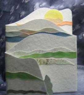 sun scenery card