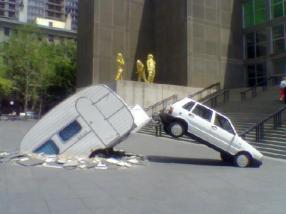 Chicago Contemporary Art Museum car