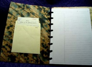 journal, inside cover