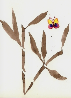 sumi-e butterfly