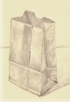 paper bag sketch