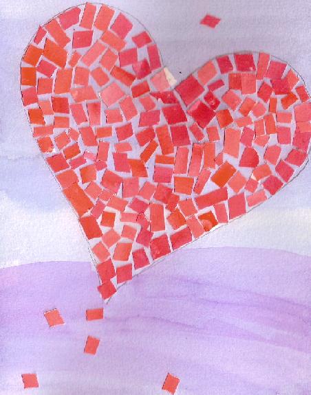 Mosaic Heart Valentine Card – Valentine Heart Card
