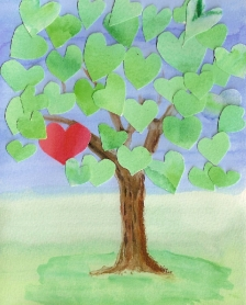 Valentine Tree Card