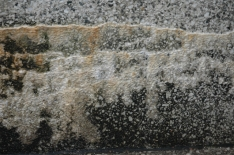 salt-stained wall