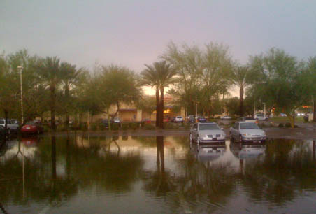 Monsoon parking lot