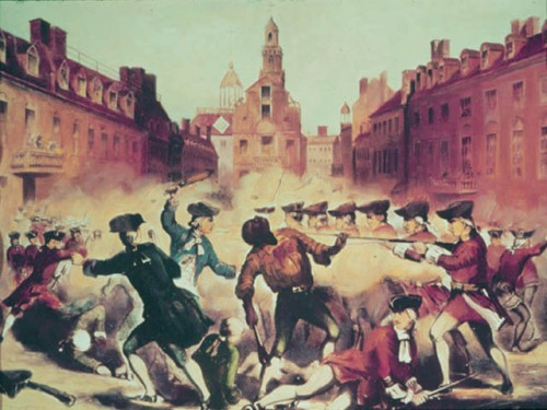 Looks like Thanksgiving, but it's the Boston Massacre