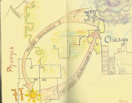 Trip ideaglyph, journal page