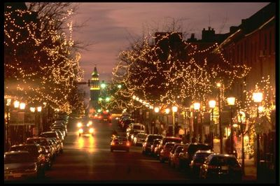 Old Town Alexandria lights from About.com