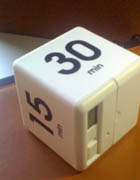 cube timer set for 30-minutes