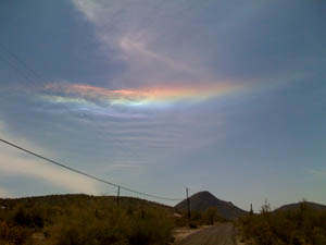 Fire rainbow in New Rivier, AZ (c) Quinn McDonald, 2009