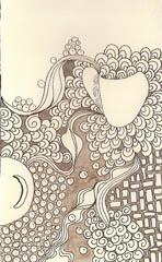 Raw-art-journal page © Quinn McDonald 2009