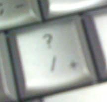 Fuzzy question mark