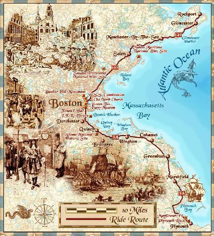 Boston Ride, map by Bill Tipton, Compartmaps.com