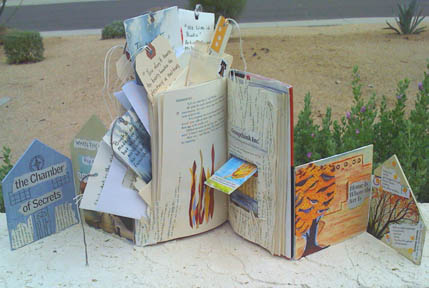 Altered book, Fahrenheit 451. © Quinn McDonald, 2009