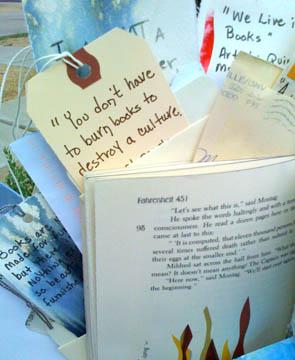Detail of book tags, © Quinn McDonald, 2009