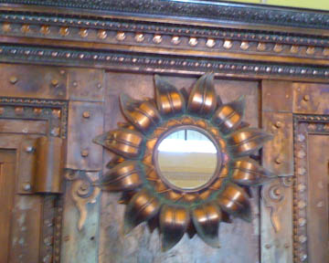 Antique copper moulding and mirror © Quinn McDonald, 2009