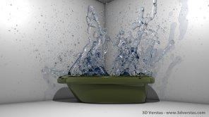 Slow motion water burst from 3dverstas
