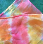 Voile in yellow, orange and pink. Cheery!