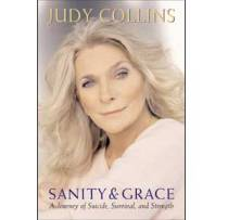 "Cover of Judy Collins' book ""Sanity & Grace."""