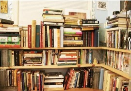 Overstuffed shelves.