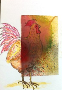 It took me a long time to start sketching. Because, you know, I was chicken. (Image: ink on watercolor paper, inked papers. © Quinn McDonald, all rights reserved, 2012.