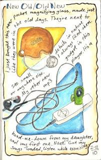 Pocket magnifier as art, the joy of an MP3 player