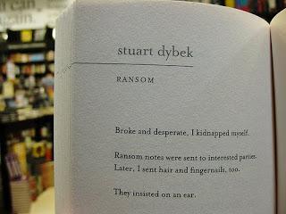 """""""Ransom,"""" hint fiction by Stuart Dybek."""