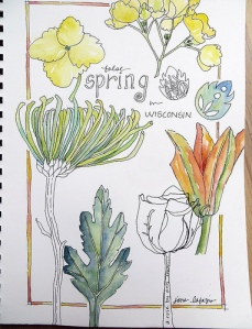 A page from Jane LaFazio's sketchbook.
