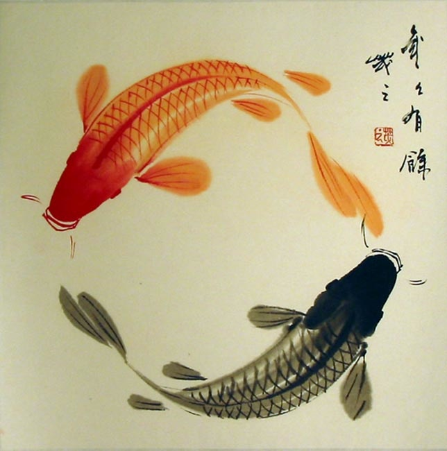 Evolution of koi quinncreative for Japanese koi carp paintings
