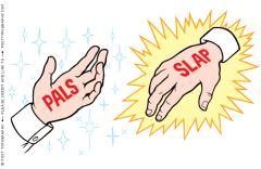 From fastcompany.com http://www.posttypography.com/illustration/frenemies-pals-slap-handshake/