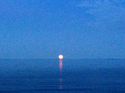 Moonrise over Lake Superior