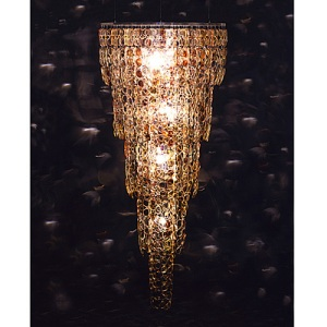 Chandelier made of spectacles by Stuart Haygarth.