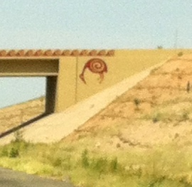 One of Arizona's many freeway decorations. This one is East of Tucson, on I-10.