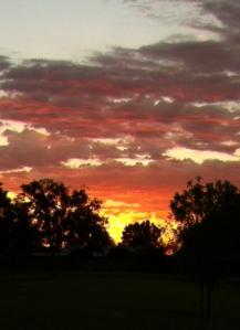 August sunrise in Phoenix.