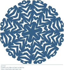 My first virtual snowflake of the year!