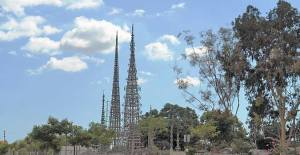 Watts Towers in Los Angeles, built by Simon Rodia.