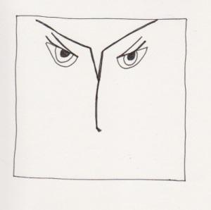 My Inner Critic. PittPen on watercolor paper. © Quinn McDonald, 2012