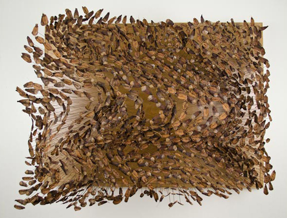 """Seascape"" is made of pinecone seeds."