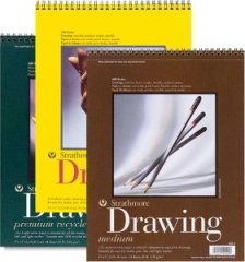 Strathmore drawing paper: 24 sheets, 80-lb or 130 gsm.