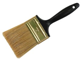 A house brush helps clean up without smearing.