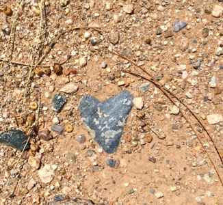 Heart in the desert.