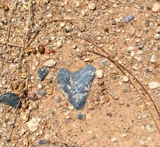 Heart in the desert.