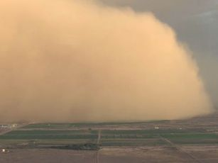 Dust storm moving into Phoenix.