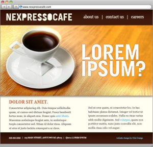 And ad, greeked in with lorem ipsum.