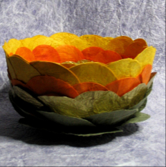 Lotus bowl, layered.