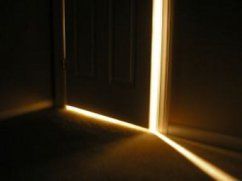 The door closes from both sides--you can close it as well at the person on the other side.