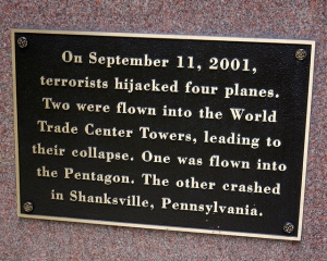 One of many memorials for those who died on 9/11/01. This one is in Springfield, Mass.