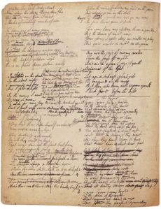 A page of William Blake's Commonplace Journal