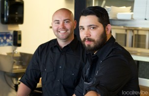 Adam Hargett (left), manager at The Local and Chef McKinley (right).