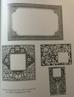Bookplate or decorative templates you can print out of the book.